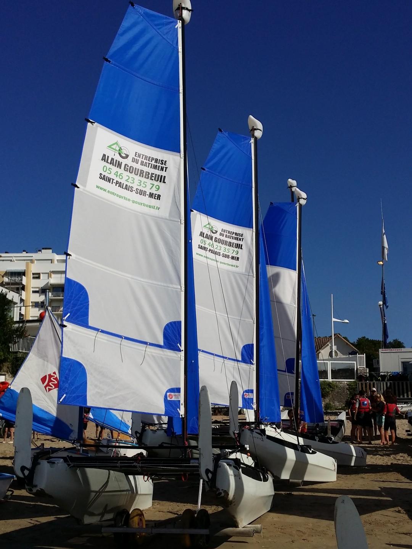 Voiles catamaran école Voilerie NOZO bretagne