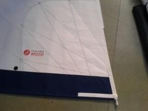 Génois NOZO sur 30 pieds cross cut, moussage rattrape de creux, bande UV Acrylique