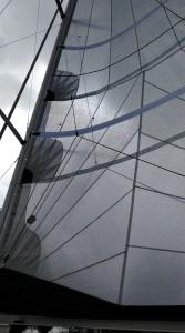 FOC et GV tri radial NOZO Sur Hunter 33 Tissu PE Dimension Polyant