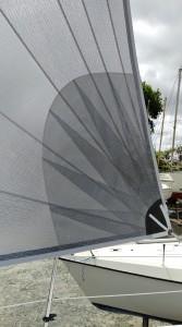FOC et GV tri radial NOZO Sur Huter 33 Tissu PE Dimension Polyant